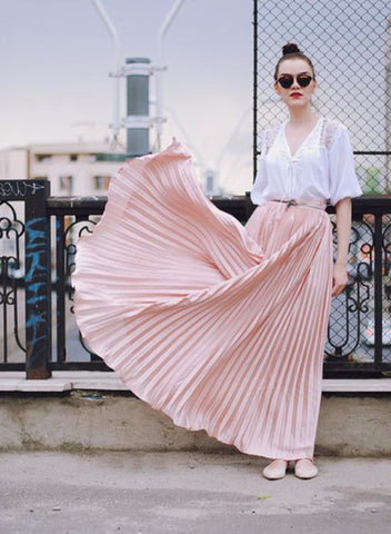 The Infinity Pleated Skirt - Slim Wallet Company