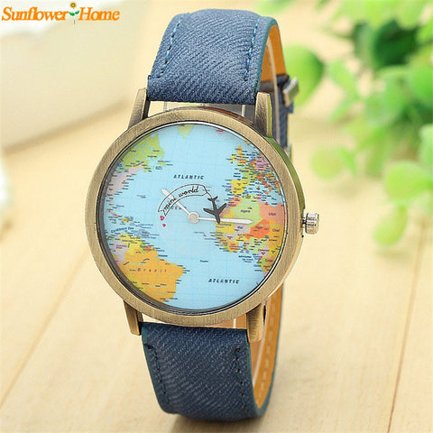 Newly Design Mini World Map Watch Men Women Gift Watches Sep11 - Slim Wallet Company