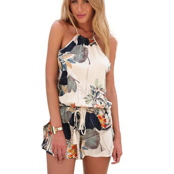Backless Boho Playsuit - Slim Wallet Company