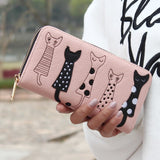 New Envelope Wallet Cat Cartoon purse Long Short Creative Female Card Holder Lady clutch coin purse
