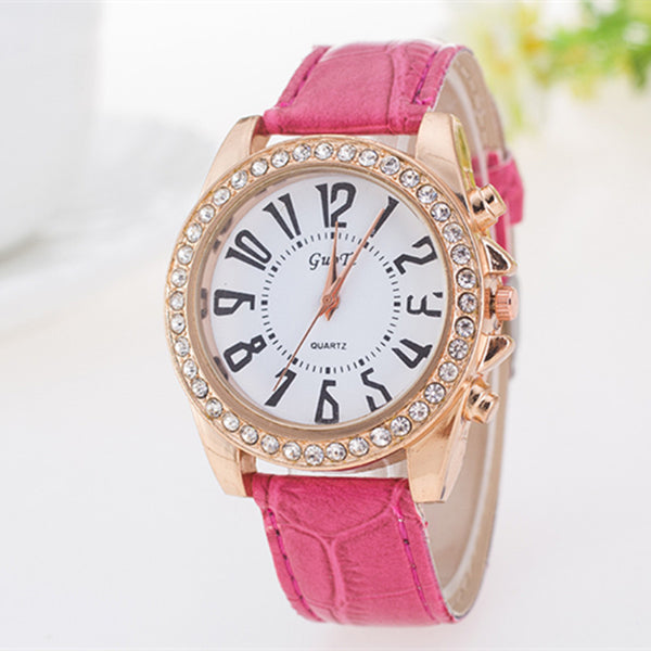 GUOTE BRAND Women Causal Leather Watch  Causal Dress Watch fast free shipping - Slim Wallet Company