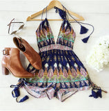 Multicolored Bohemia Romper - Slim Wallet Company