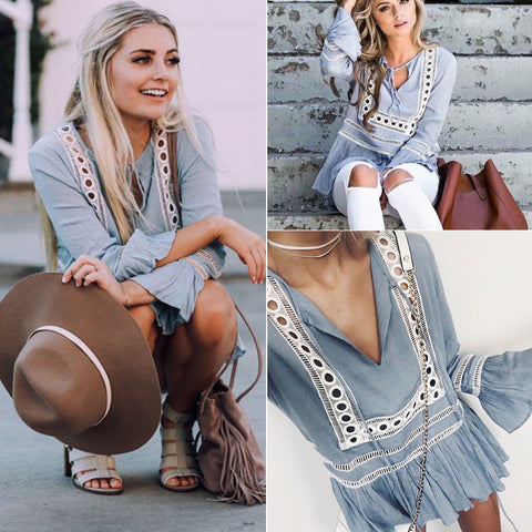 Ruffled Boho Blouse