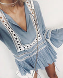 Ruffled Boho Blouse - Slim Wallet Company
