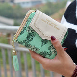 Excellent Quality Womens Wallet Leather Vintage Womens Bifold Money Bag Card Holder Bifold Female Wallet Purse For Gift 2016 New - Slim Wallet Company