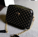 Excellent Quality 2016 Womens Bag Fashion Women Messenger Bags Rivet Chain Shoulder Bag High Quality PU Leather Crossbody SA027 - Slim Wallet Company