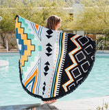 8 Pattern sale  Microfiber Reactive Printed Round Beach Towel With Tassel Serviette De Plage Toalla Playa Beach Swim Towel 150cm - Slim Wallet Company
