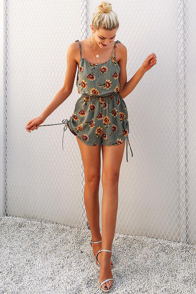 Army SunFlower  Playsuit - Slim Wallet Company