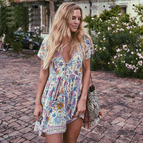 Boho Bermuda Flare Dress - Slim Wallet Company