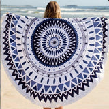 "2016 New Round Beach Towel With Tassel Adult Summer Vacation Throw Blanket  59""  Serviette Ronde Toalla Playa Mantas Para Cama - Slim Wallet Company"