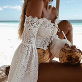 Pretty Laces At The Beach Blouse