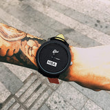 Fashion Brand HBA Leather Strap Unisex Watches Men Quartz Women Dress Watch Sports Military Relojes Geneva Wristwatch AB318 - Slim Wallet Company