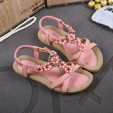 Sandstone Peach Flower Sandals