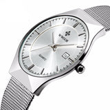 Ultra Thin Stainless Steel Mesh Wristwatch