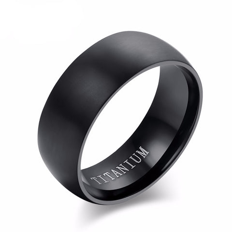 Midnight 100% Titanium Ring - Slim Wallet Company