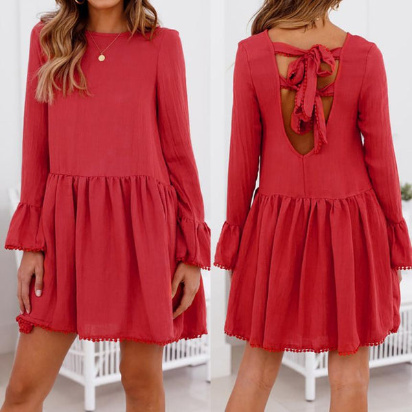 Ruffle Blush Dress - Slim Wallet Company