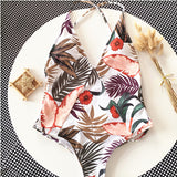 Tropical Back Swimsuit - Slim Wallet Company