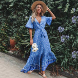 Blue Jungle Dress - Slim Wallet Company