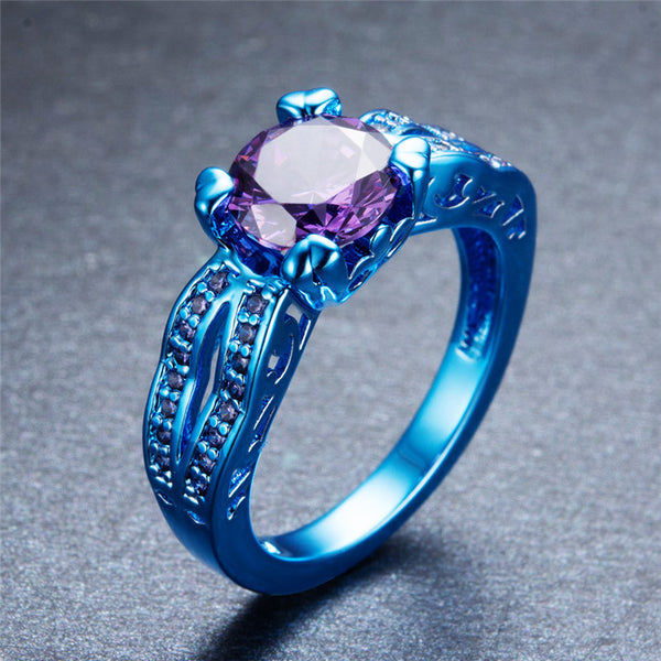 Blue Gold Purple CZ Ring - Slim Wallet Company