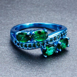 Blue Gold Green Ring