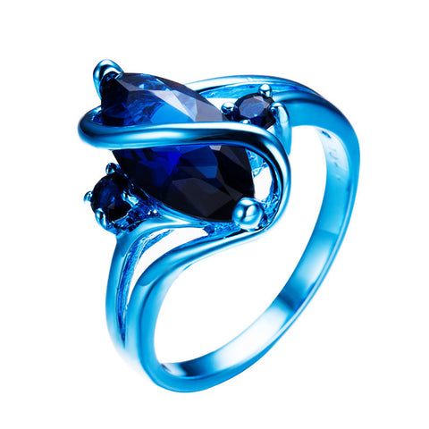 Blue Gold Stone Ring