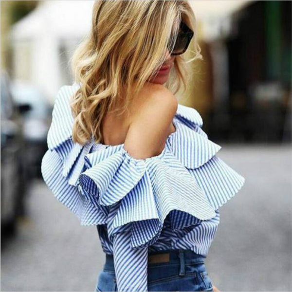 Ruffled Fiesta Blouse - Slim Wallet Company