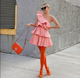 Ruffled Cotten Candy Dress - Slim Wallet Company