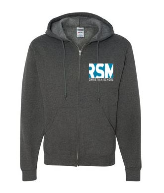Full Zip front Sweatshirt RSMCH Charcoal