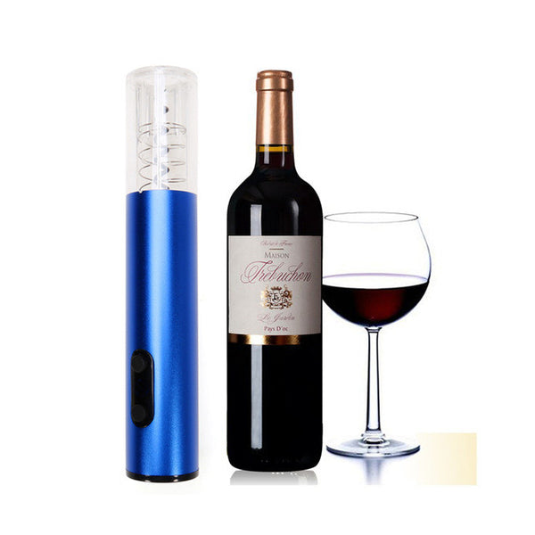 Wine Bottle Opener with AC Charger, Foil Cutter & Dry Cell Batteries