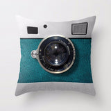 Retro Camera Throw Pillowcase Cover - Eco-Friendly -  Dimensions 45*45cm  - FREE Shipping