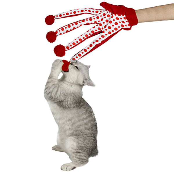 Funny Polka Dot Cat Amusement Glove