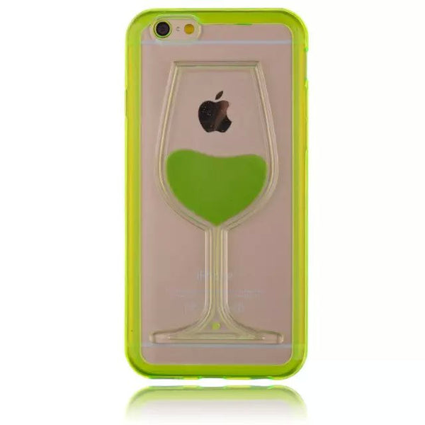 Soft  Liquid Wineglass Case For iphone 6 6S  6S Plus 6 Plus