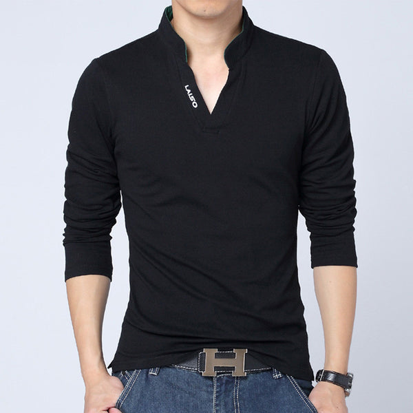 Solid Color shirts Top Quality Casual Long Sleeve sports