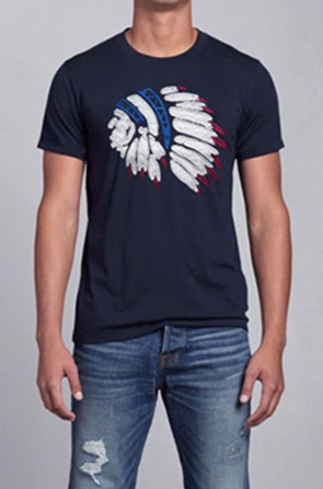 Mens T Shirts Casual Cotton Dark Blue