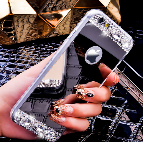 Diamond Mirror Case For iPhone 5 5S 5G /6 6S/6 6S Plus