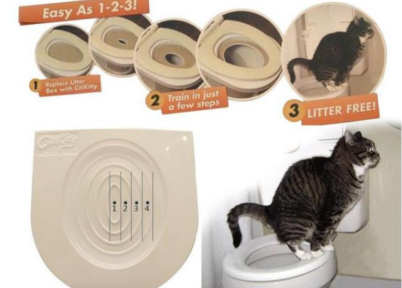 New Easy To Learn Cat Toilet Training Kit  And Healthy Behavior Aid