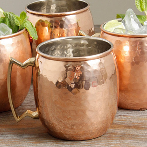 HAMMERED COPPER MOSCOW MULE MUG (16OZ)  High Quality Copper Mug - Free Shipping