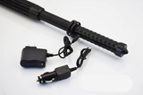 Self Defense Tactical Patrol Flashlight With Glass Breaker and Home Car / Auto Charger