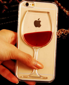 iPhone 4-7Plus Wine Glass Liquid Case  FREE + Shipping
