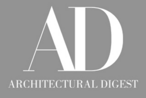 Large A and D with Architectural Digest written in white beneath it