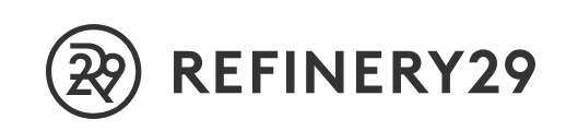 Refinery 29, with their round logo to the left