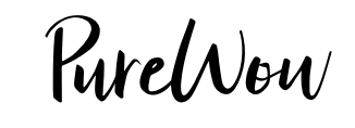 Pure Wow written in black, hand drawn font