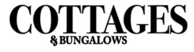 Cottages and Bungalows in black letters