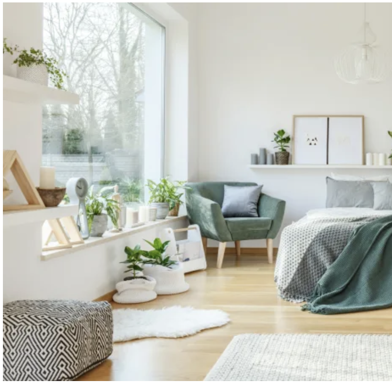 A bright and airy bedroom