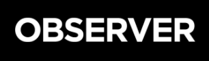 a black box with observer written in white