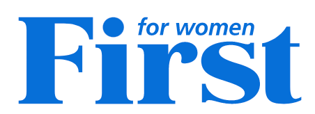 blue font reads For Women First