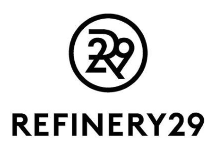 Refinery 29 black logo with circle icon above