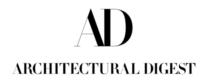 large A and D above Architectural Digest black logo