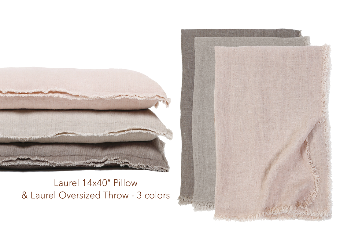 stack of laurel 14x40 inch pillows