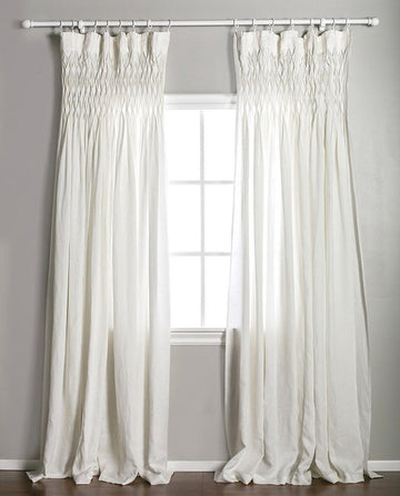 SMOCKED CURTAIN